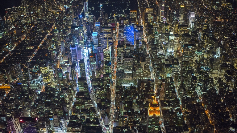 NYC Grid at Night. Photo by C. Taylor Crothers/NYCEDC