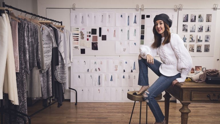 Made in NY: Fashion designer Alejandra Alonso Rojas. Photo by Kevin Scanlon