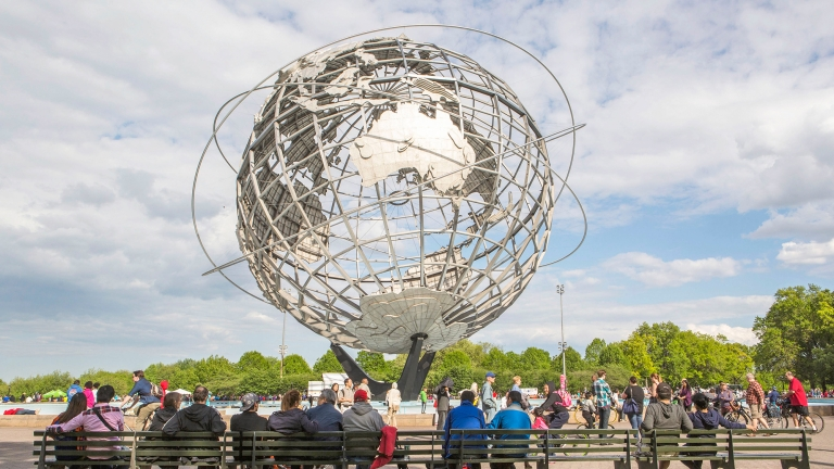 The Unisphere. Photo by Kate Glicksberg/NYC and Company.