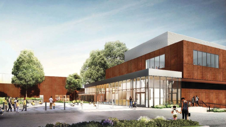 Edenwald Recreation Center. Visualization by Marvel Architects.
