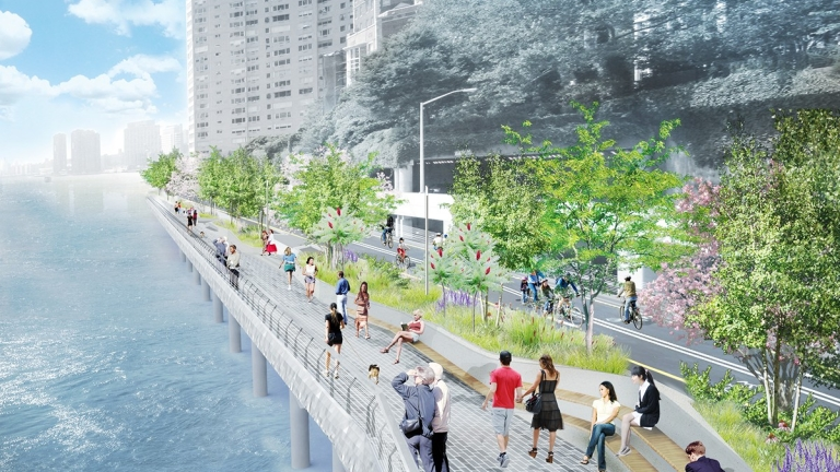 Manhattan Waterfront Greenway. Visualization by NYCEDC.