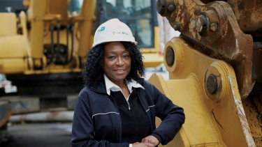 D'Ann Ricketts, Owner, BarDen Contracting Services, LLC. Photo by NYCEDC.