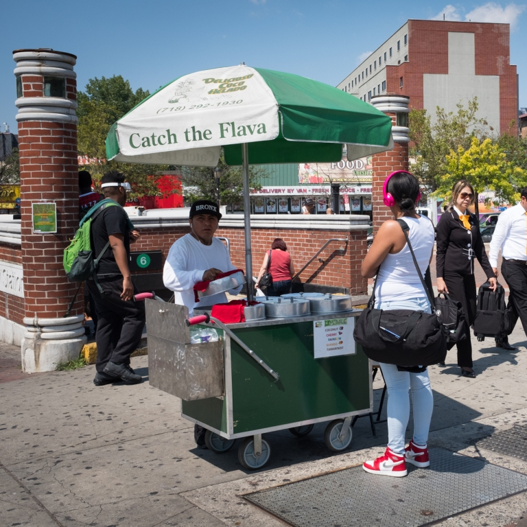 Bronx Street Vendor. Photo by Edwin J Torres/Mayoral Office of Photography.