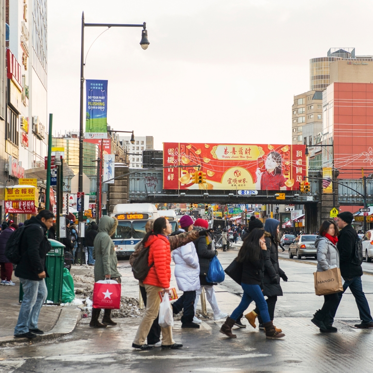 Flushing Queens, Photo by Julienne Schaer/NYC&Company
