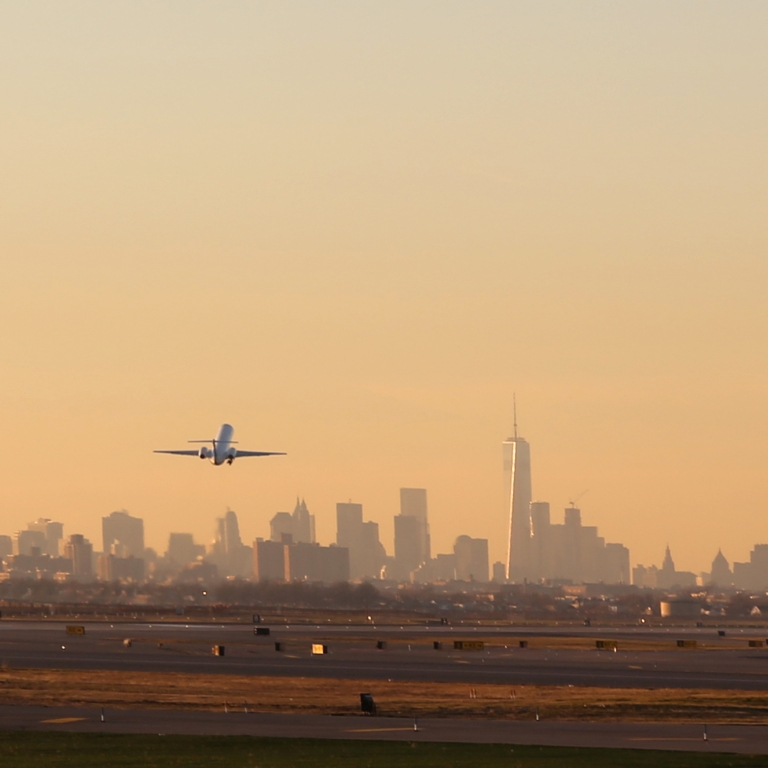 Planes taking off at JFK Airport. Photo by Getty Images.