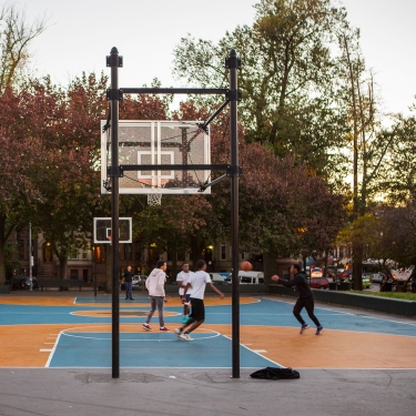 Crown Heights basketball. Photo by Tagger Yancey IV/NYC and Company