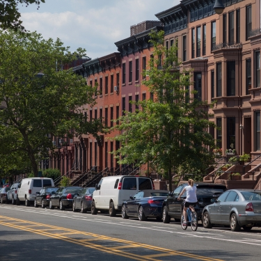Park Slope homes. Photo by Joe Buglewicz/NYC and Company