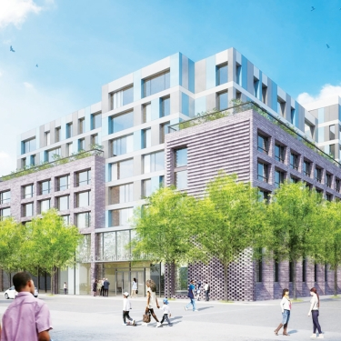 1414 Central Avenue proposed design; preliminary rendering. Image by Magnussun Architecture and Planning