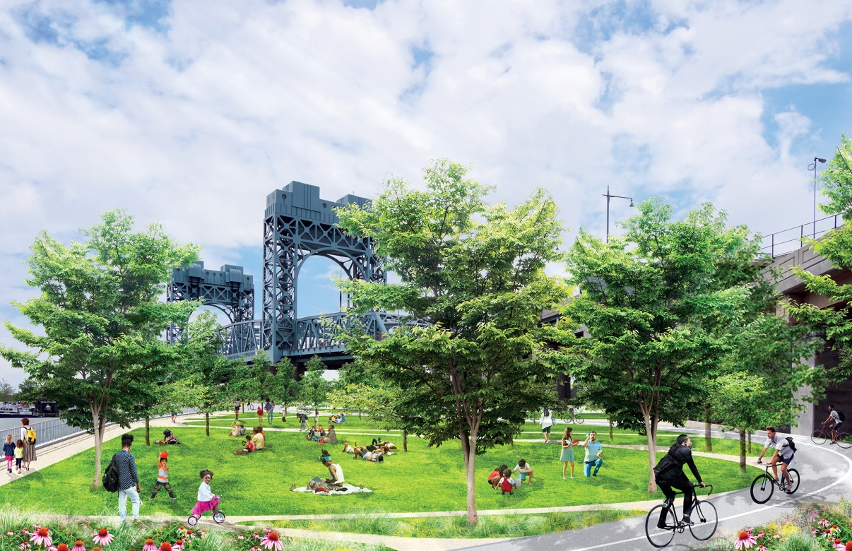 Proposed rendering of the Harlem River Greenway