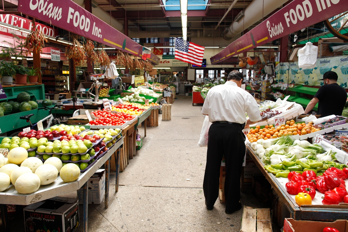 Arthur Avenue Market. Photo by Joe Buglewicz/NYC&Company.