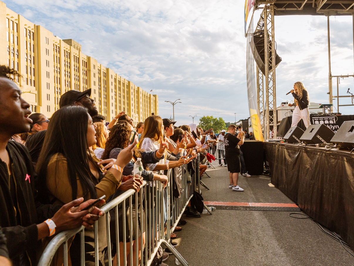 JOJO Performing at the BAT Block Party. Photo by Kreg Holt/NYCEDC.
