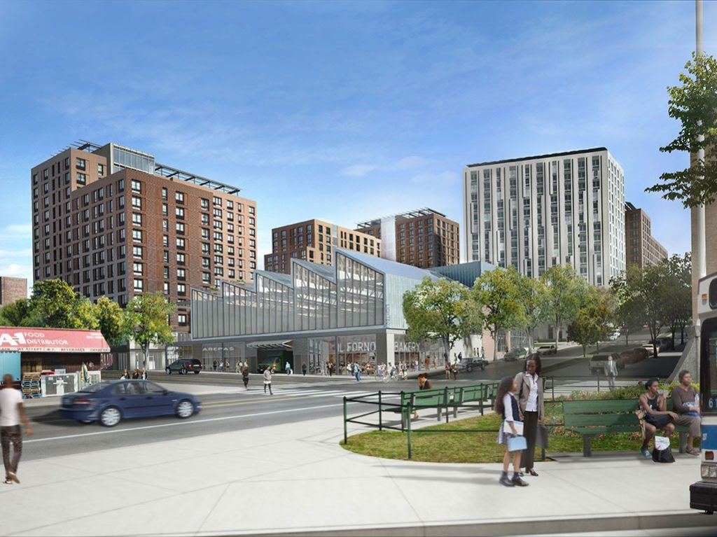 Spofford Redevelopment. Visualization Courtesy of Gilbane Development Company.