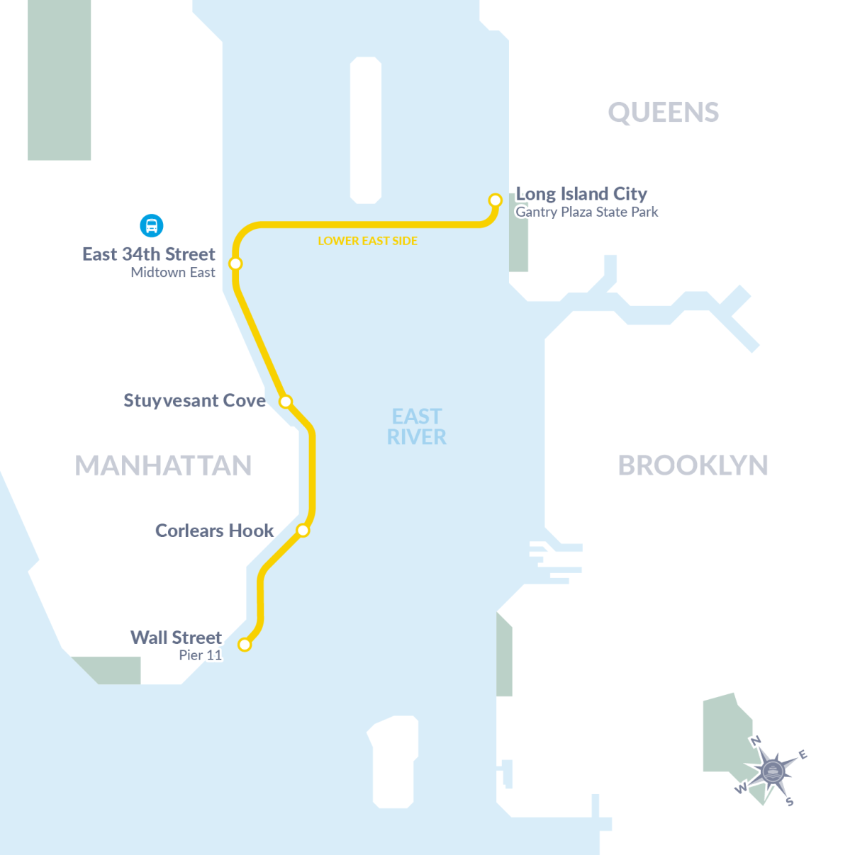 Mayor de Blasio Launches Lower East Side Ferry Route ...