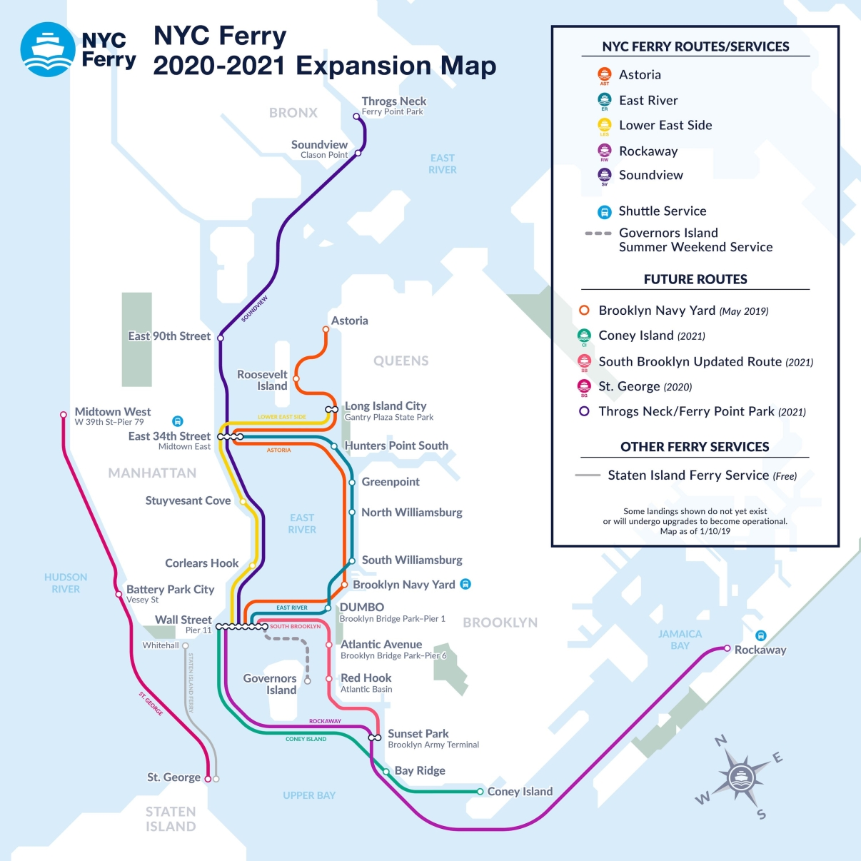 2020 NYC Ferry Expansion