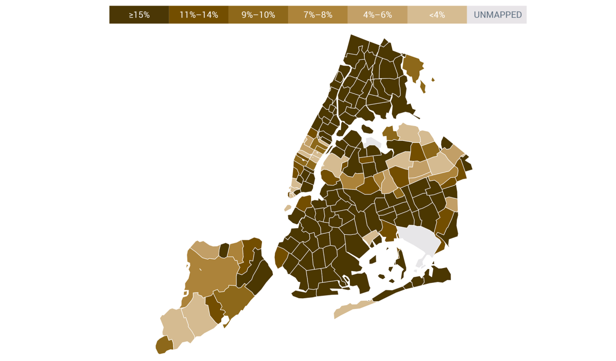In Most NYC Zip Codes, More That 15 Percent of Residents Are Credit Invisible