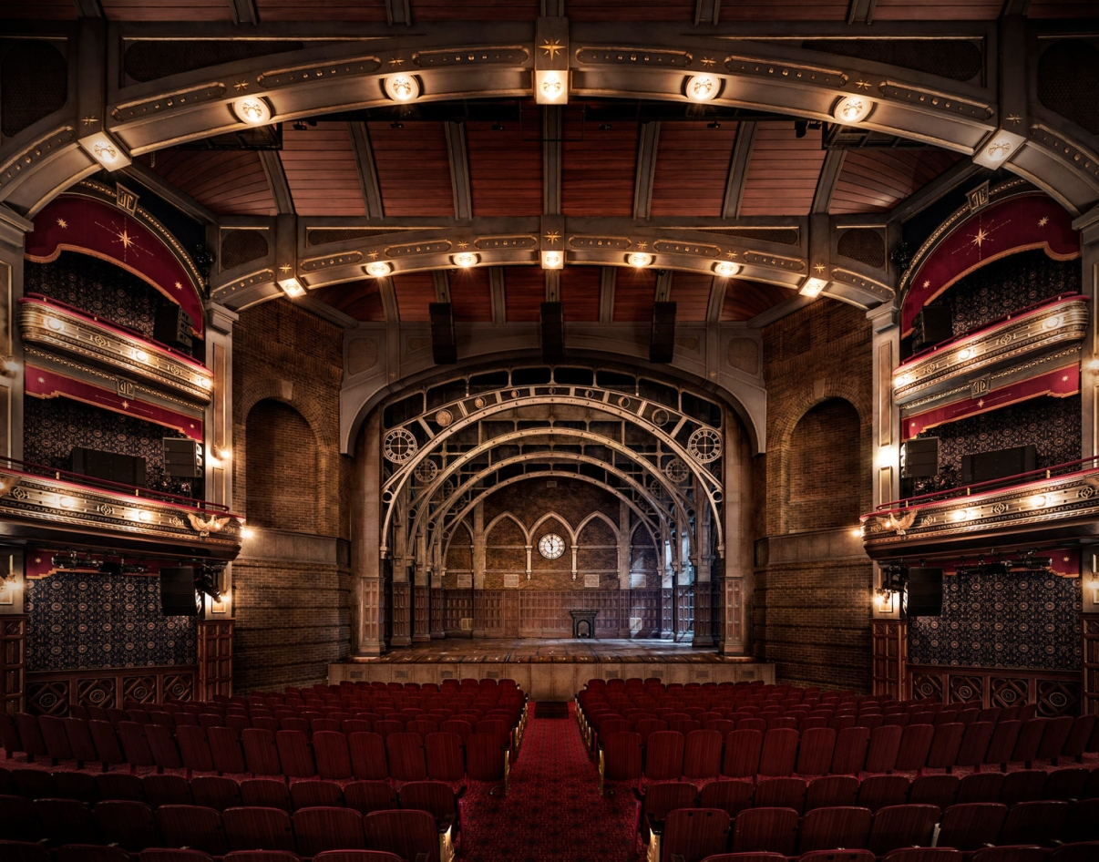 Fully restored interior of the Lyric Theatre today. Image: The Lyric Theatre.
