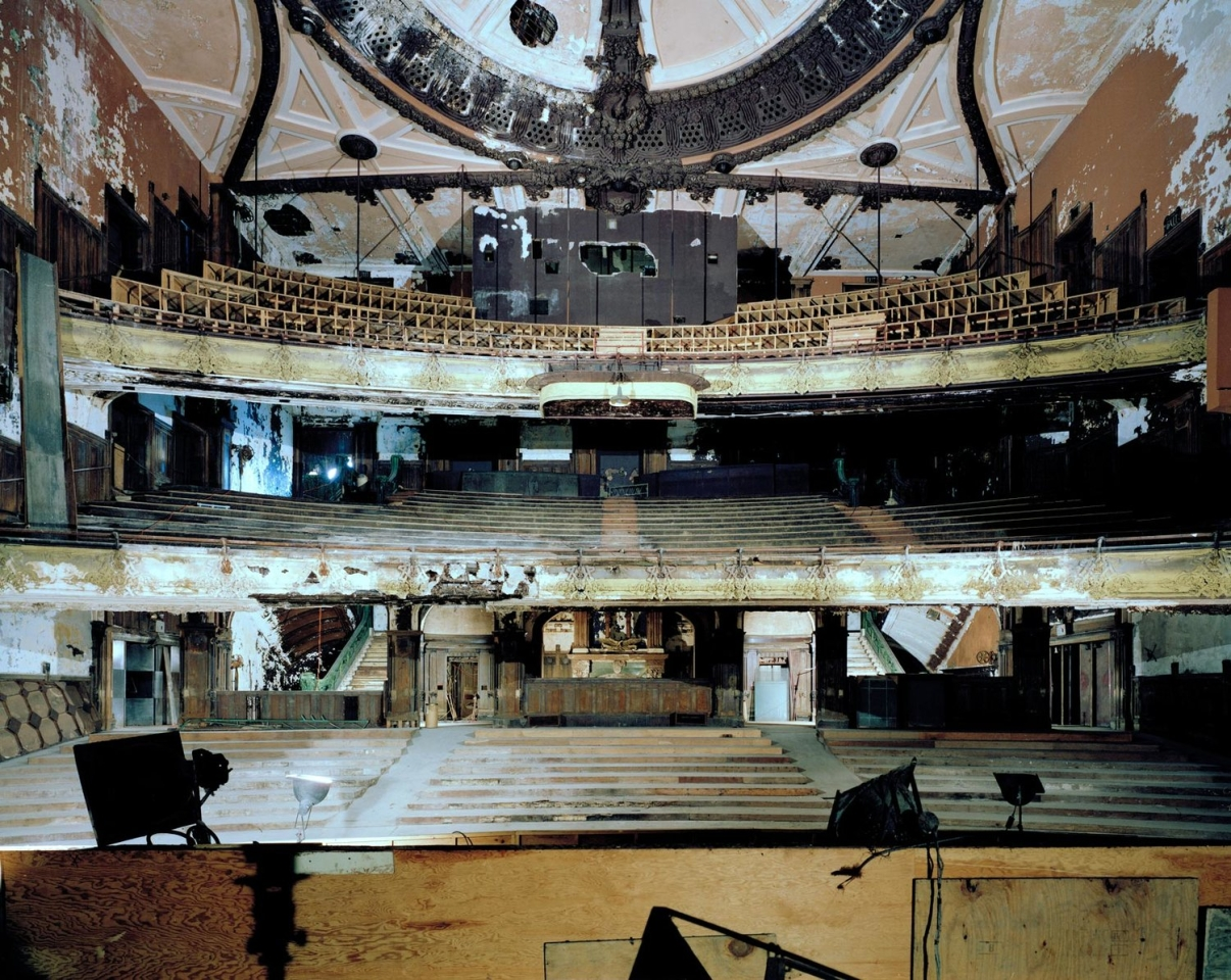 Interior of the New Amsterdam Theatre, before renovations began. Image: Whitney Cox.