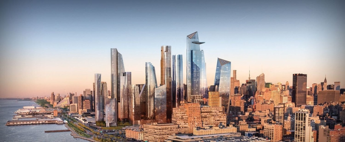 Rendering of a fully developed Hudson Yards. The blight and decay on 42nd Street was seen as a roadblock to the City's expansion west. Images: Hudson Yards.